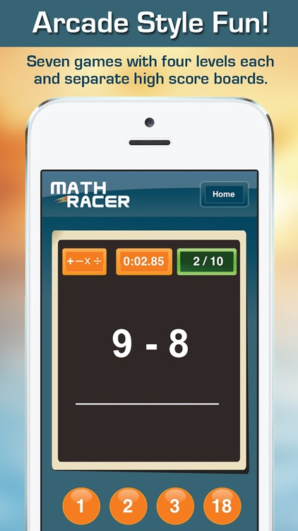 Math Racer 3.0 - Addition, Subtraction, Multiplication and Division Tables Speed Game