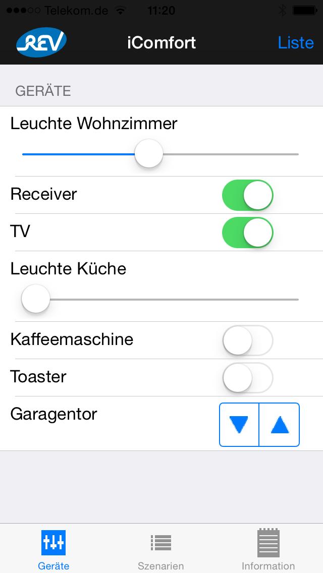 REV iComfort screenshot one