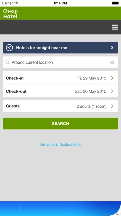 download Cheap Hotel for Tonight Near You - Only the most economical hotels at lower price apps 1