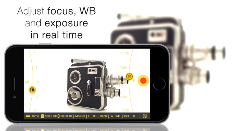 iPhocus - Manual camcorder - Focus, Exposure, ISO and White Balance controls for your videos like in a DSLR screenshot-0