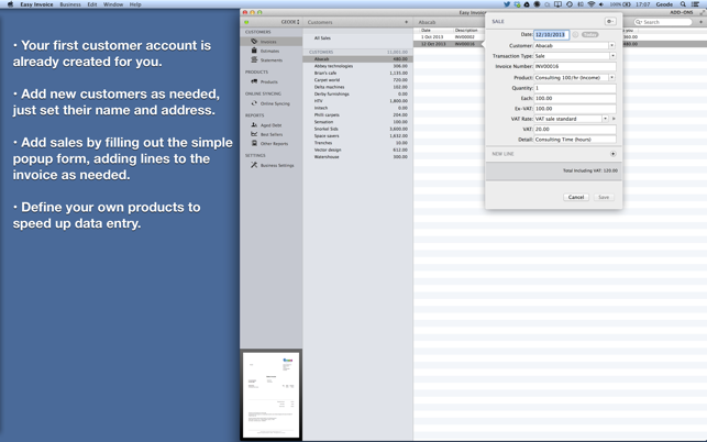 Easy Invoice PDF Generator On The Mac App Store - Pdf invoice maker everything 1 dollar store online