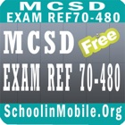 MCSD  70-480 Exam Prep Free icon