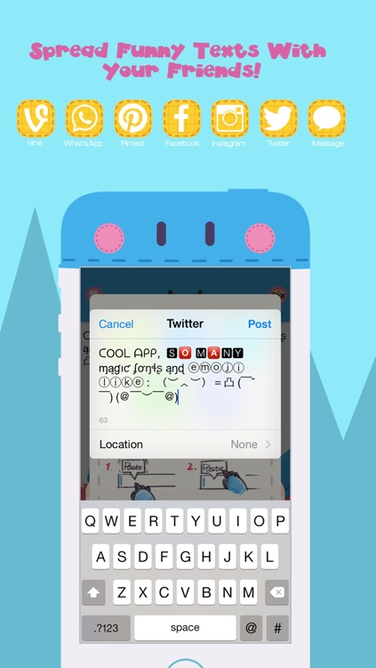 Symbol Font Keyboard -  Cool Text Fonts Symbolizer and Better Funny Fantastic Keyboards , Emoji Icons for Instagram and Vine Comments or iMessage, Kik and Twitter Message screenshot-3