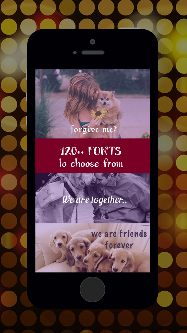 Easy Text Plus - 120++ Fonts to Pictures Photos screenshot two