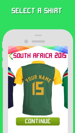 Cricket World Cup 2015 Jersey Maker on the App Store