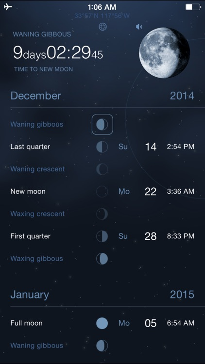 Moon Phases Deluxe - Full and New Moon Calendar screenshot-0