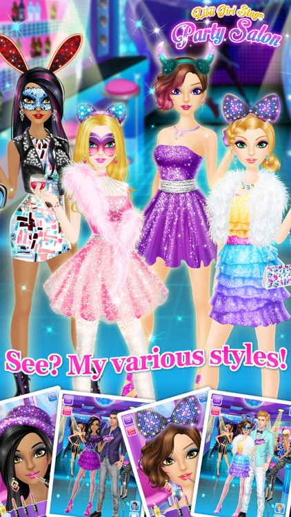 Party Salon - Girls Makeup & Dressup Games