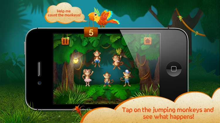 Five little monkeys jumping on the bed for toddler