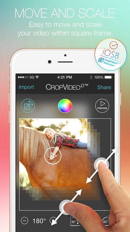 Crop Video Square - Video Editor for Pinch Zoom Adjust Resize and Crop Your Movie Clip Into Square or Rectangle Size for Instagram