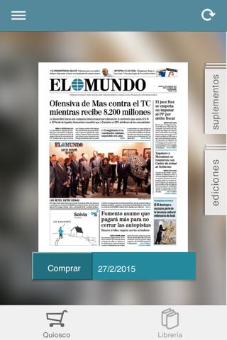 El Mundo Edición Impresa screenshot 2