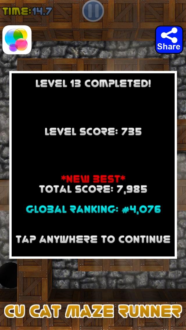 Cu Cat Maze Runner Screenshot on iOS