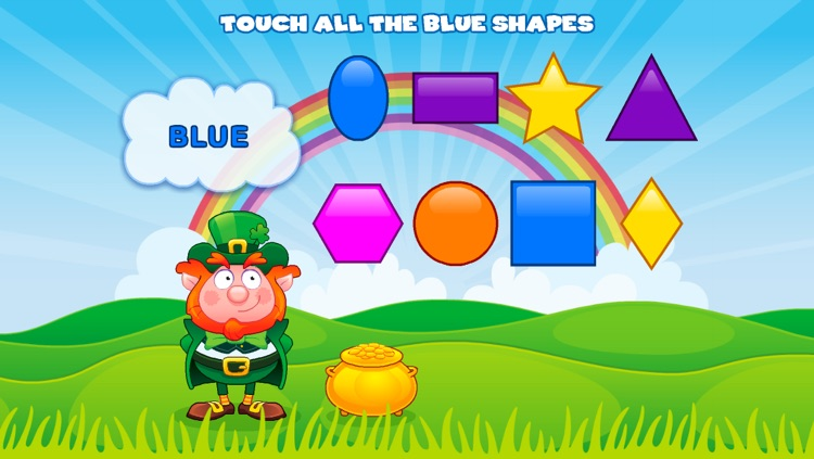 Shapes with Lucky the Leprechaun