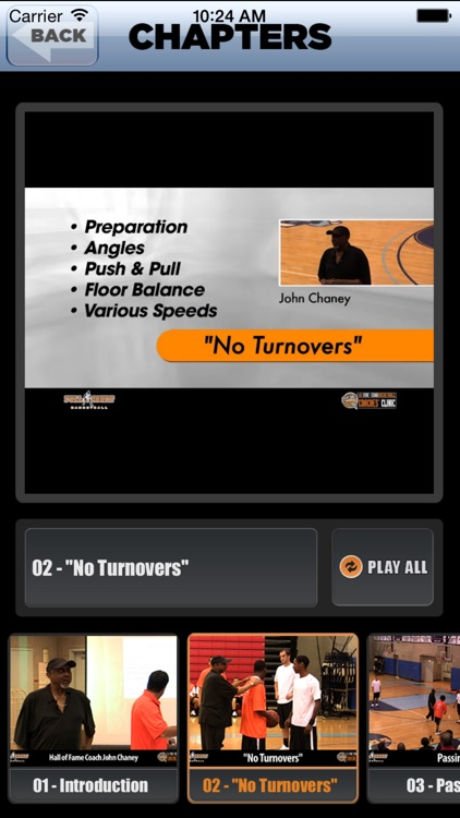 """ No Turnovers "" : A Championship Coaching Philosophy - With Coach John Chaney- Full Court Basketball Training Instruction screenshot-2"
