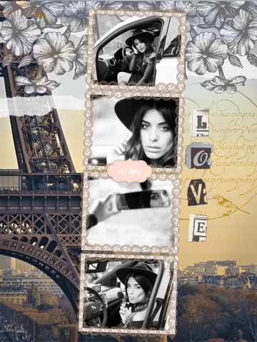 Paris Cam - The Chic arty love Foto Collage Kamera for a beautiful scrapbook selfies pic in France-ipad-1