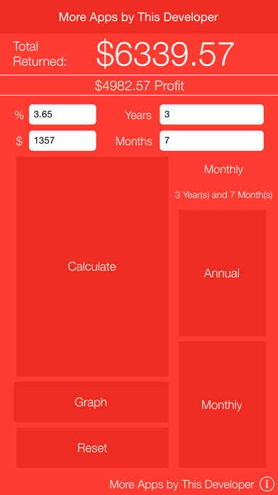 Compound Interest Calculator with Graph screenshot two
