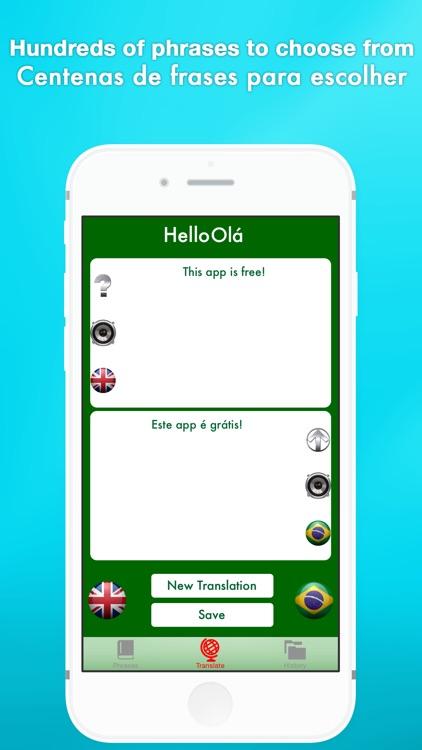 Hello Olá - English to Portuguese translator / Português para Inglês tradutor