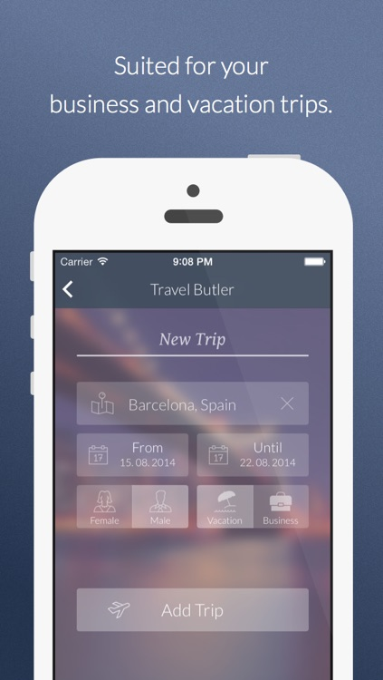 Travel Butler - Vacation Trip Planner with Weather Forecast & Packing List screenshot-3