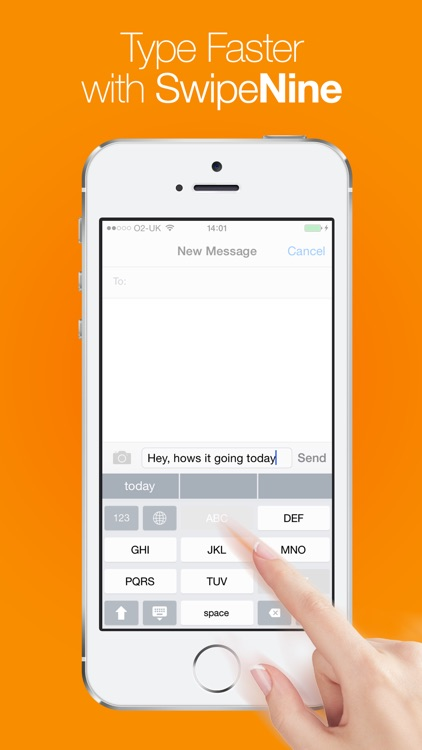Swipe Nine Keyboard - Fast Predictive Typing with Autocomplete screenshot-3