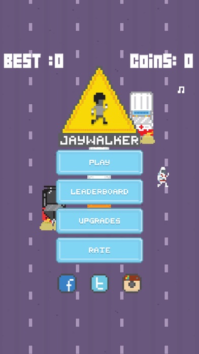 Jaywalker! - 2D Endless Arcade Runner screenshot one
