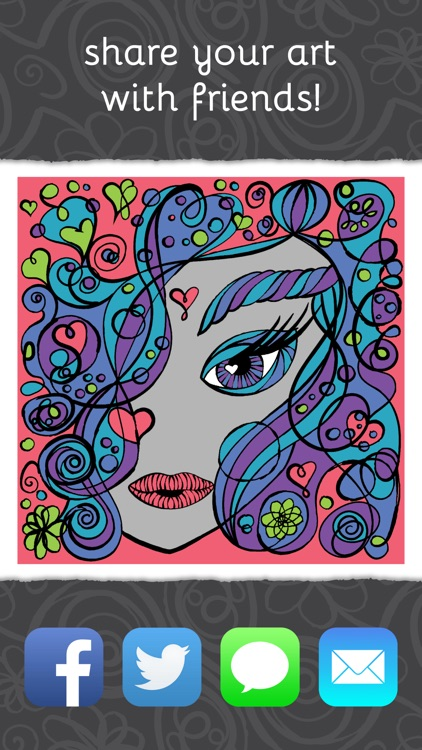 PrismaJoy Coloring Book for Adults - Art Therapy screenshot-3