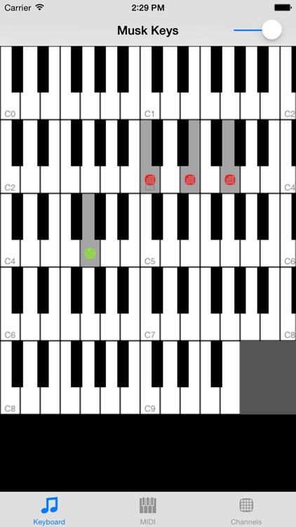 Musk MIDI Keyboard screenshot-0