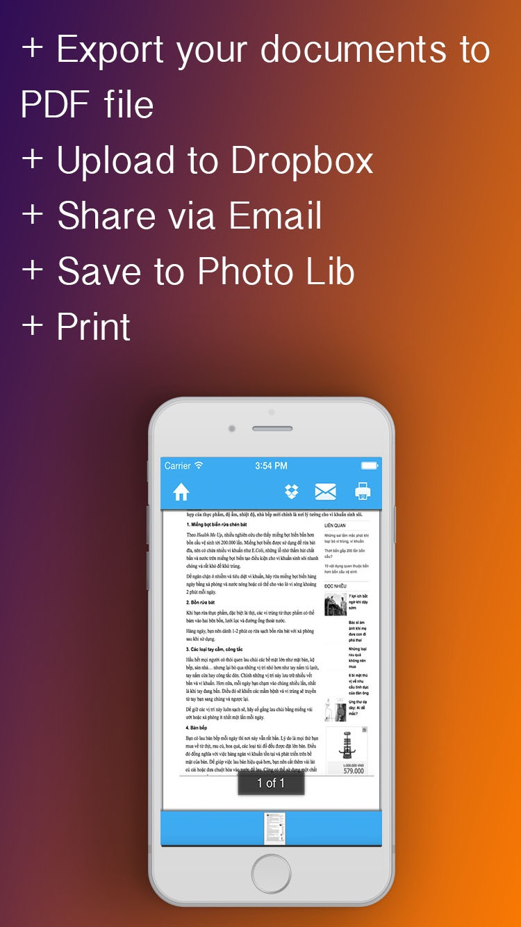 QScanner Pro - Quickly scan documents, books, receipts Screenshot