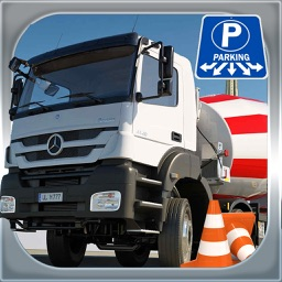 Cement Truck Parking 3D Simulator - Big Rig Construction Car Driving Test Game