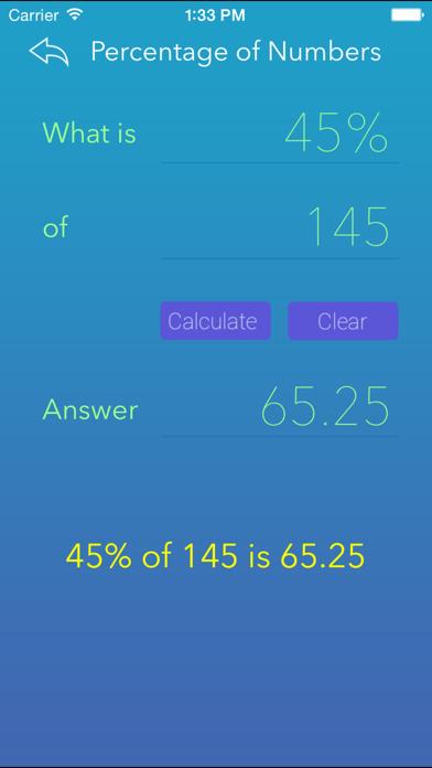 Percentage Calci screenshot three
