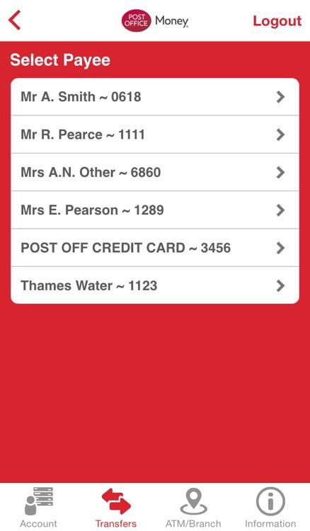 Post Office Money Current Account screenshot-3