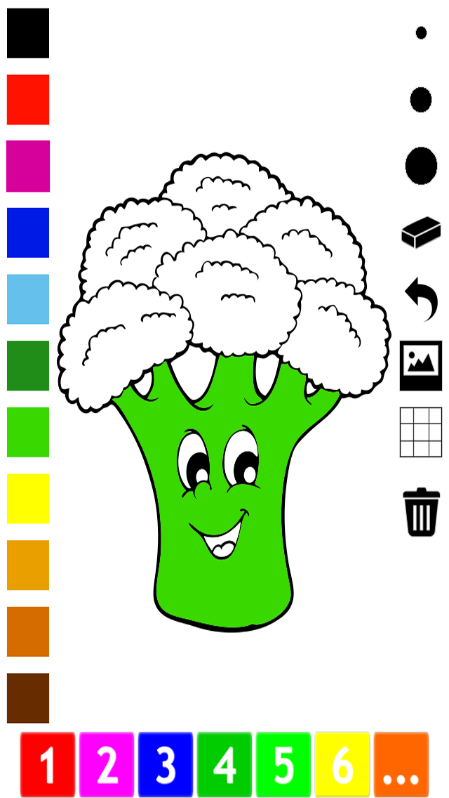 A Vegetable Coloring Book for Children: Learn to color the