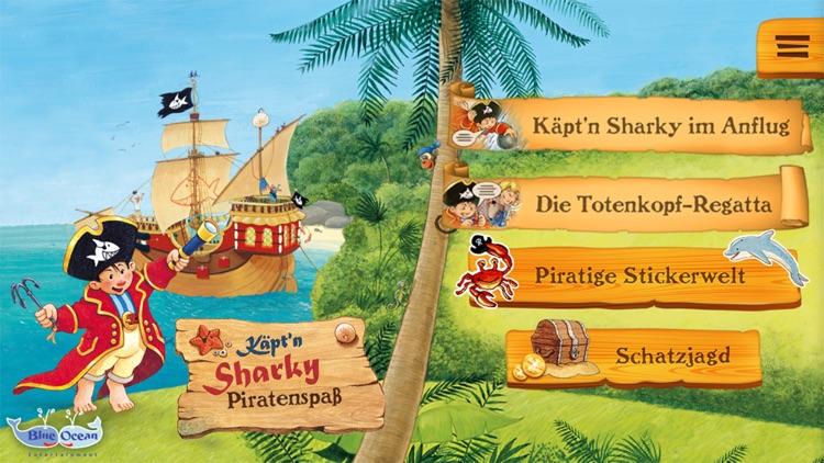 Käpt'n Sharky Piratenspaß zum Lesen und Spielen screenshot-0