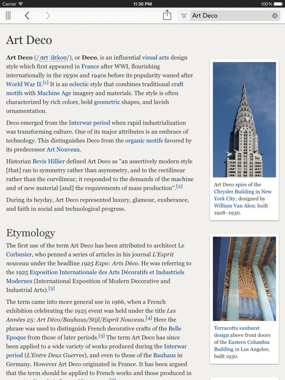 Wikipanion for iPad