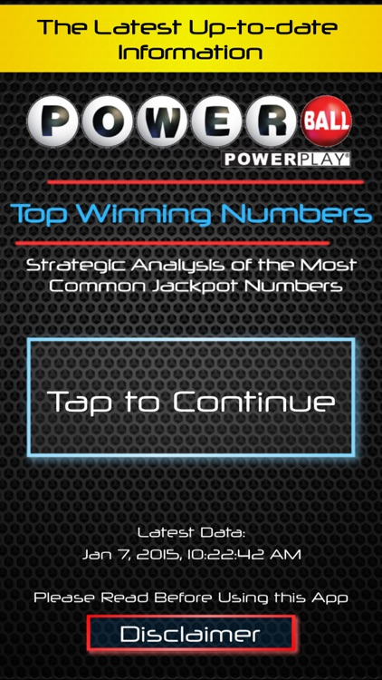 Powerball Smart Numbers screenshot-0