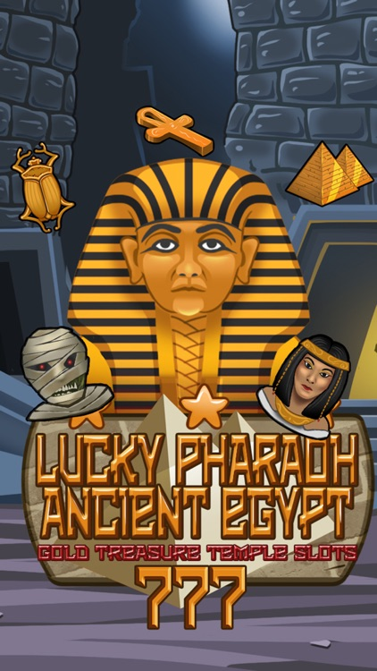 `Lucky Pharaoh Egypt Gold Treasure Temple Casino Slots Free screenshot-3