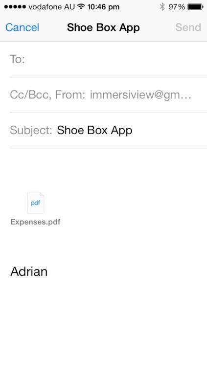 Shoe Box - Tax Receipts app screenshot-3