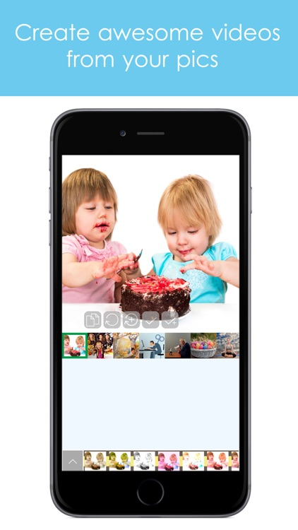 PicsVideo Slideshow of photos, text and music and post to Instagram