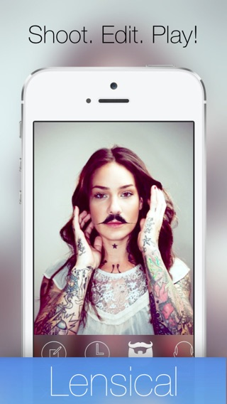 Lensical - A face editor, photo lab & manual camera to perfect your portraits or grow a hilarious mustache & morph friends into old people Screenshot