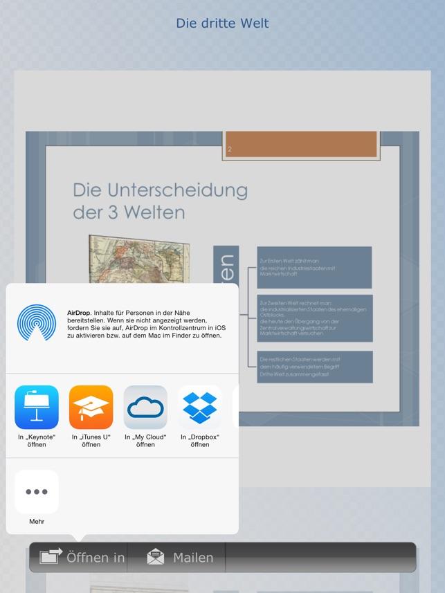 Vorlagen für Keynote 1 & 2 im App Store
