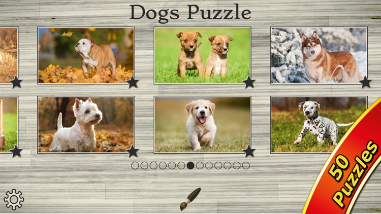 Dog Puzzles - Jigsaw Puzzle Game for Kids with Real Pictures of Cute Puppies and Dogs