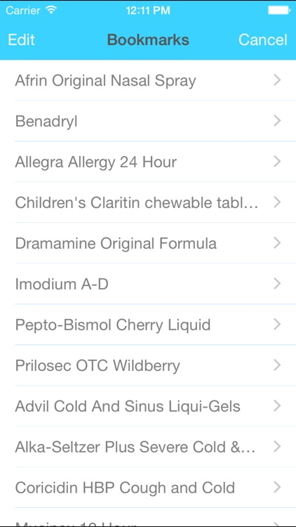 OTC Assistant - over the counter drugs by symptom, brand name, or ingredient screenshot-3