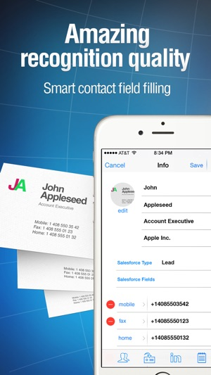 Business card reader on the app store iphone screenshots reheart