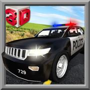 警车司机模拟器3D - 警察驾驶的汽车追逐和逮捕小偷
