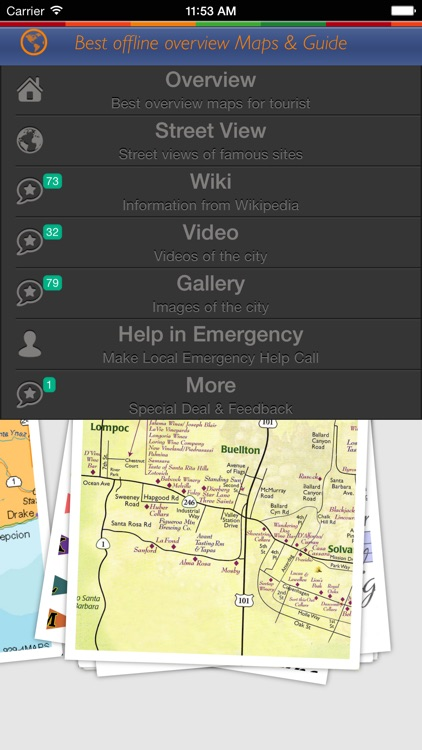 Santa Barbara Tour Guide: Best Offline Maps with StreetView and Emergency Help Info screenshot-0