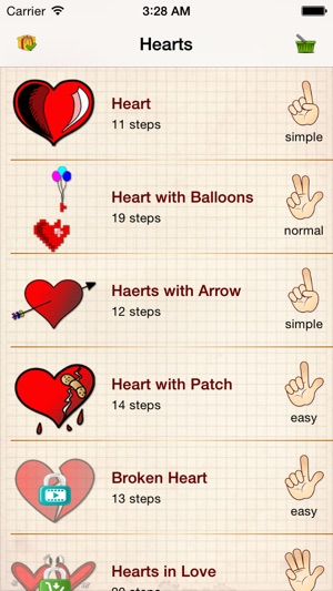 Easy Draw Hearts And Love Pictures On The App Store