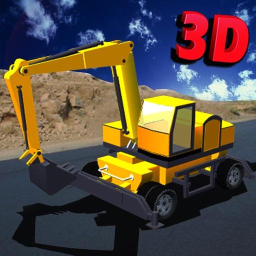 重い掘削機シミュレータ:キッズ&ティーンズのための素晴らしい建設用クレーンの駐車場の挑戦