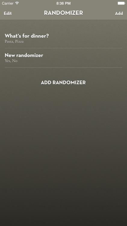 Randomizer Wheel