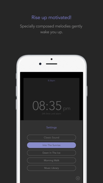 Up! Alarm Clock - rise and begin your daily routine with motivation