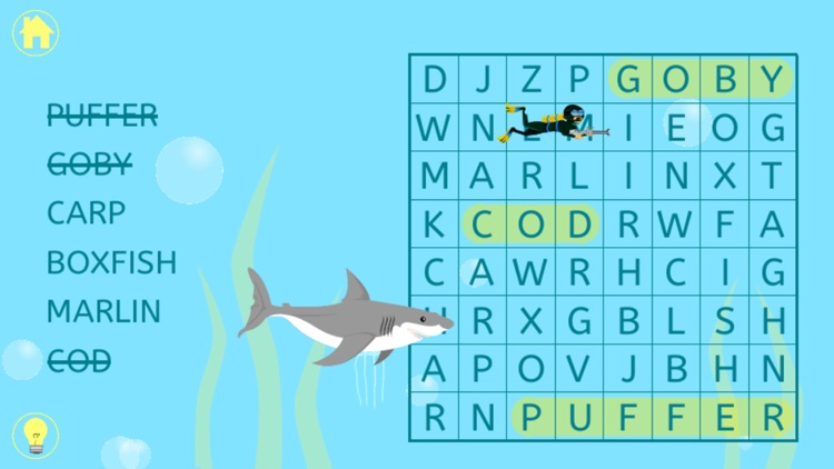 Kids Word Search - Word Find Puzzle for Kindergarten, First, and Second Grade for English Learning