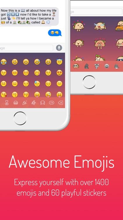 Next Keyboard - Beautiful Themes, New Emojis & Stickers screenshot-3