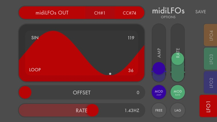 midiLFOs - midi modulation toy screenshot-0